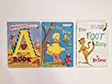 Three Bright and Early Books for Beginning Beginners Dr. Suess Set: The Foot Book, Berenstains' A, It's Not Easy Being Big!