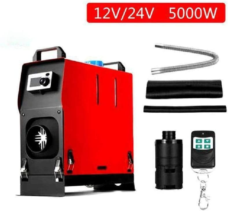 ETE ETMATE 5KW Diesel Air Heater Aluminum Alloy Diesel Parking Heater 12V Diesel Heater Silencer With Remote control LCD Switch for Bus Car RV Boats