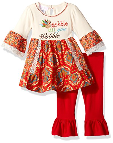 Bonnie Baby Baby Girls Holiday Dresses and Legging Sets, red, 3-6 Months ()