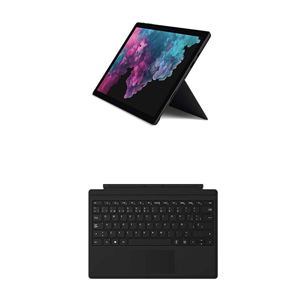 Microsoft Surface Pro 6 - Ordenador portátil 2 en 1, 12.3 (Intel Core i7-8650U, 16GB RAM, 512GB SSD, Intel Graphics, Windows 10) Color Negro + Funda con ...