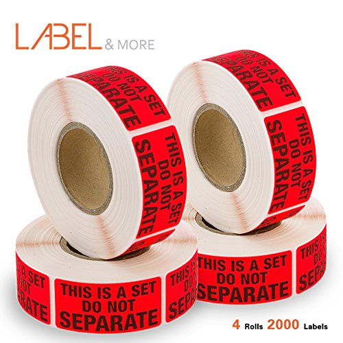 FBA Packing Labels for Shipping Sold As Sets and Bundles Printed This Is a Set Do Not Separate Label Stickers FBA Supplies 1