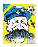 Wing Commander Tash Moustache Accessory for WWII Pilot Airmen Fancy Dress Moustache by Partypackage Ltd