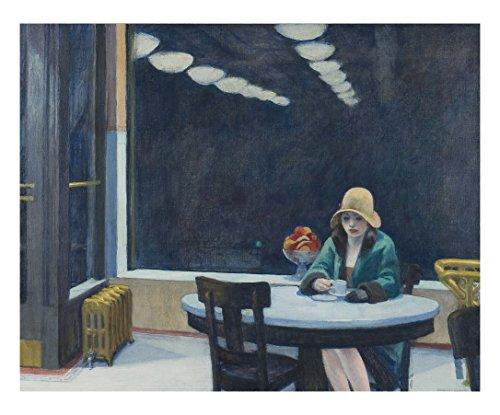 Automat, 1927 by Edward Hopper Painting Print