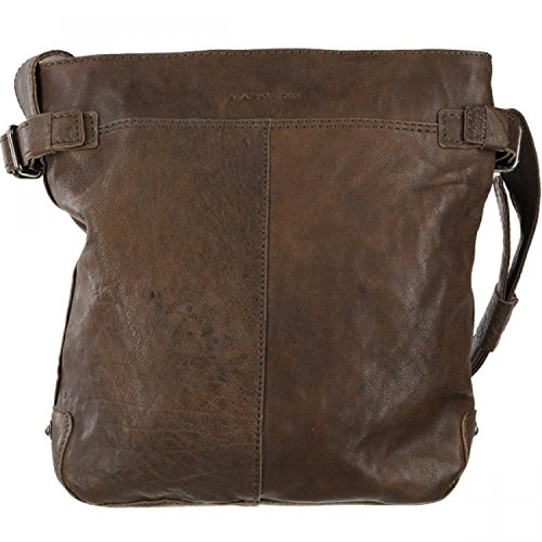 Harolds Pull Up borsa a tracolla pelle 27 cm brown_brown, braun