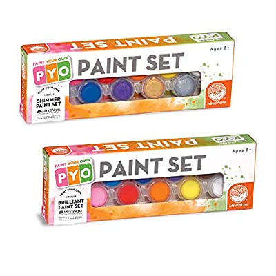 MindWare Paint Your Own Porcelain Paints kit: Brilliant Colors and Shimmer Colors: Toys & Games