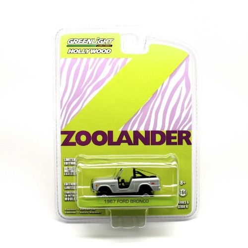 1967 FORD BRONCO from the movie ZOOLANDER Greenlight Collectibles 1:64 Scale Hollywood Series 6 Die Cast Vehicle by GL ()