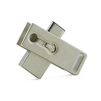 Amazon.com: USB 3.0 Type-C unidad flash metal Llavero USB-C ...