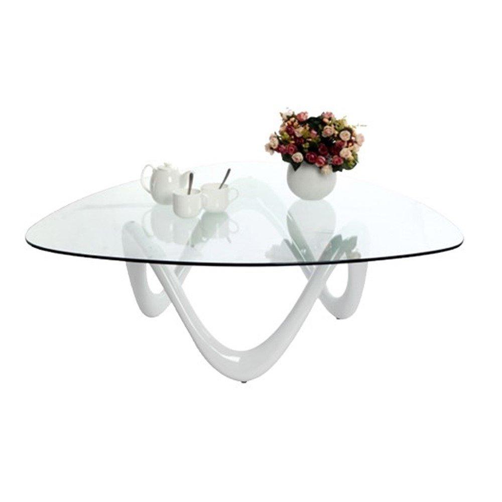 Designetsamaison Table Basse De Salon Blanche Niagara Amazonfr