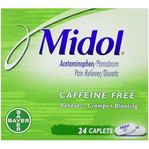 (Midol Cramp & Bloating Relief Caffeine Free Caplets 24 ct (6 Pack) )