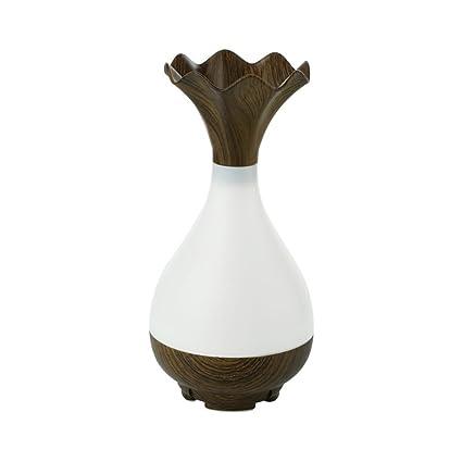 Amazon Humidifiersbraceus Wood Grain Vase Shape Led Light