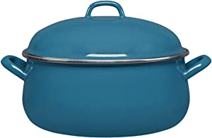 GUSTO KITCHENWARE Enamel on Steel 11in Party Size Premium Multipurpose Dutch Oven 8 QT with Lid, Suitable for All Stovetops Including Induction, Oven and Dishwasher Safe