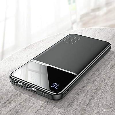 Amazon.com: Power Bank 10000mAh Portable Charging PowerBank ...