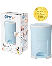 Dekor Plus Hands-Free Diaper Pail | Soft Blue | Easiest to Use | Just Step – Drop – Done | Doesn't Absorb Odors | 20 Second Bag Change | Most Economical Refill System |Great for Cloth Diapers