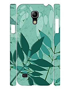 Fashion Series Cell Phone Case With Green Leaves Design Slim Fit Case Cover for Samsung Galaxy S4 Mini I9195