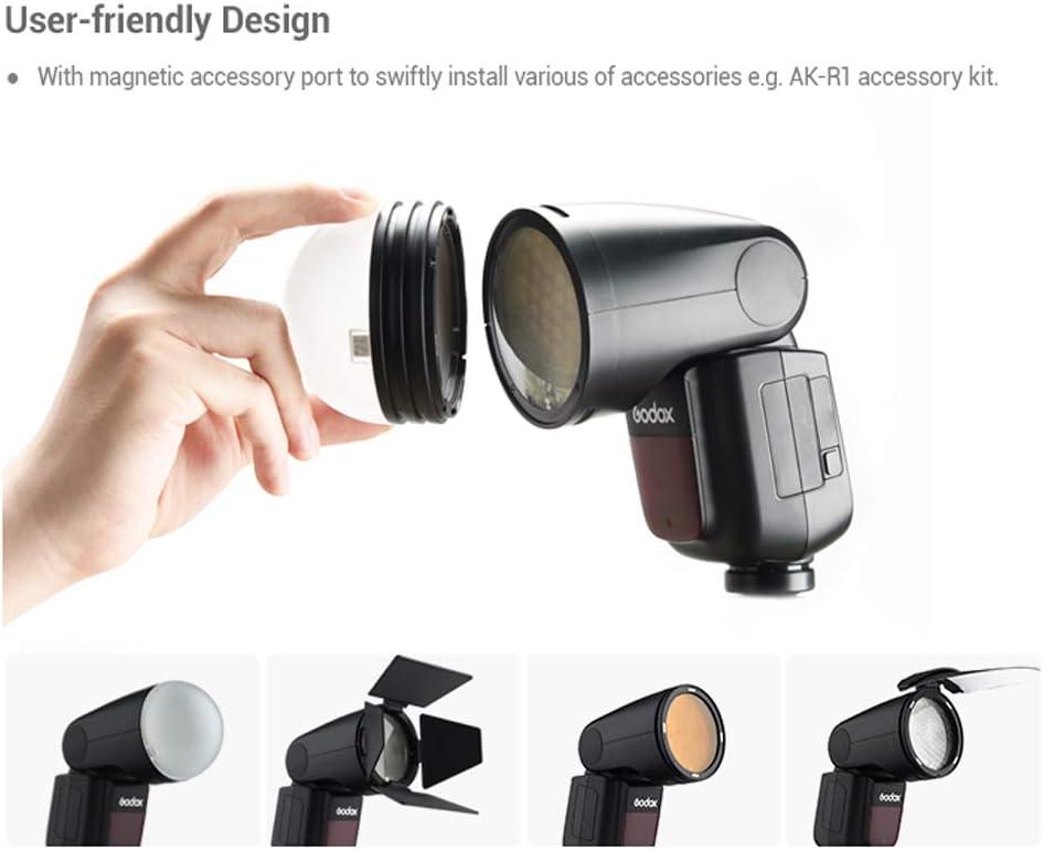 Godox V1-N TTL 2.4G Round Head Camera Flash Speedlite with X2T-N TTL Wireless Flash Trigger for Nikon Cameras