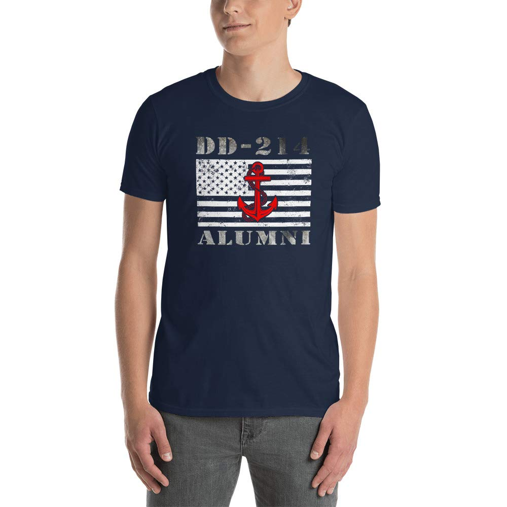 USA Flag Navy Veteran T Shirt Gift DD-214 Alumni Veteran T Shirt