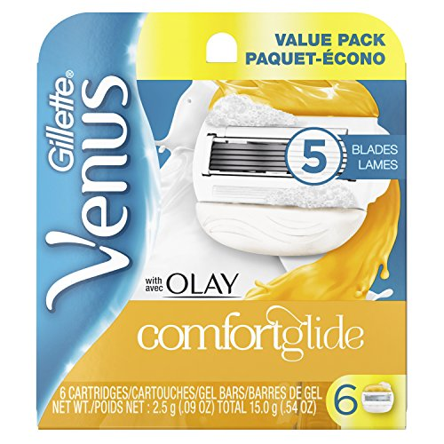 Gillette Venus ComfortGlide with Olay Women's Razor Blades, 6 Count