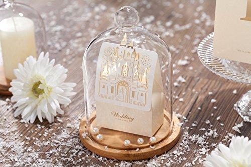 WISHMADE 50pcs Laser Cut Wedding Favor Boxes Candy box Bride