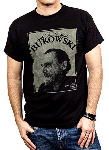 MAKAYA Men's T-Shirt Charles Bukowski Black Size M