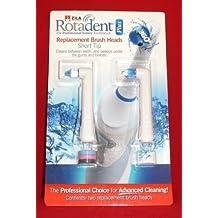 Pack of 2 Rotadent Plus Brush Heads - SHORT TIP by RotaDent