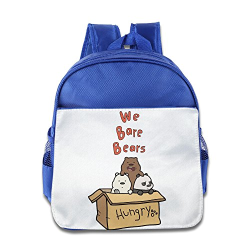 HYRONE We Bare Cartoon Bears Children School Bag Backpack For 1-6 Years Old RoyalBlue (Indian Couple Costume)