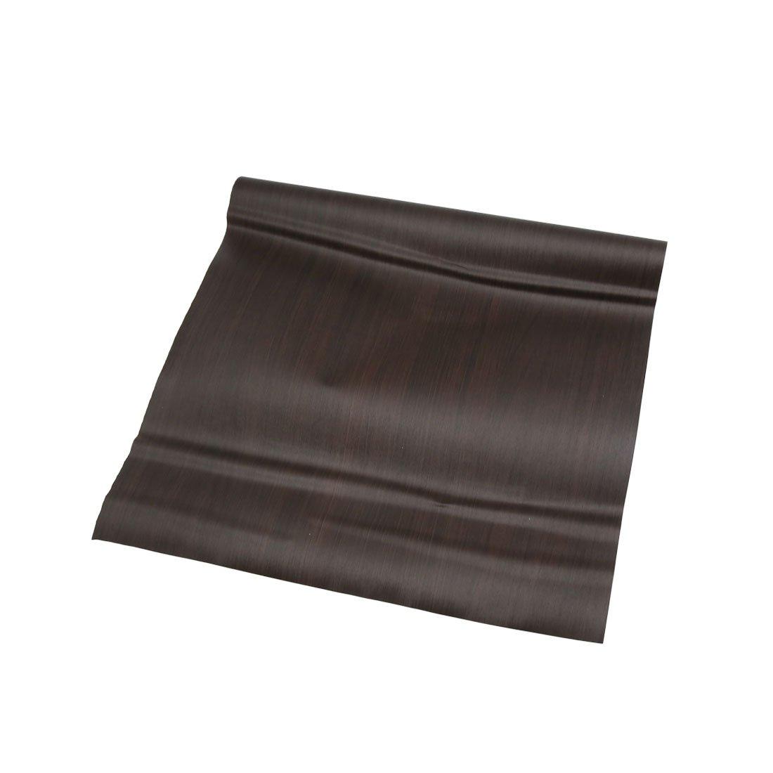 sourcingmap 100 X 30 cm Negro Mate de Madera de Roble con Textura de Grano Autoadhesiva de La Pelí cula del Vinilo Coche a17060600ux0895