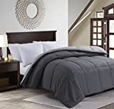 MANZOO Queen Comforter Duvet Insert Gray - Quilted Comforter with Corner Tabs - Hypoallergenic, Plush Siliconized Fiberfill, Box Stitched Down Alternative Comforter - Machine Washable