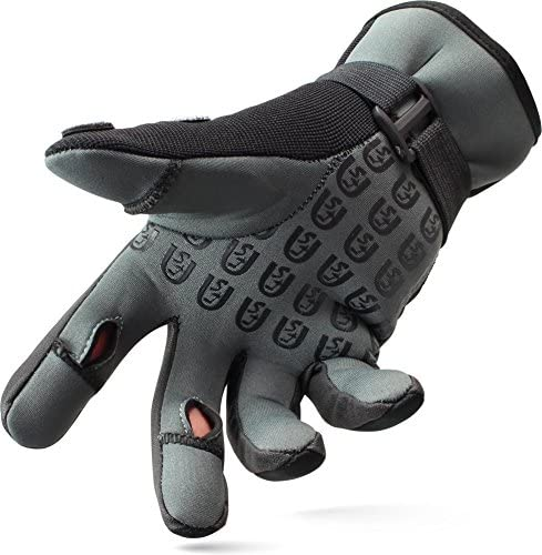 normani Neopren Anglerhandschuhe Titanium Neopren 2,5 mm und abnehmbaren Fingerkuppen