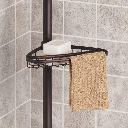 Interdesign york constant tension corner shower caddy for Interdesign york