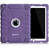 HOCOCASE Soft Silicone Extreme-Duty Military Transformer Hybrid Shockproof & Drop Rresistance Anti-slip Case Cover for iPad 2 / iPad 3 / iPad 4 - Purple