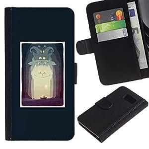 Paccase / Billetera de Cuero Caso del tirón Titular de la tarjeta Carcasa Funda para - Alice Poster Fairytale Story Kids Child - Samsung Galaxy S6 SM-G920