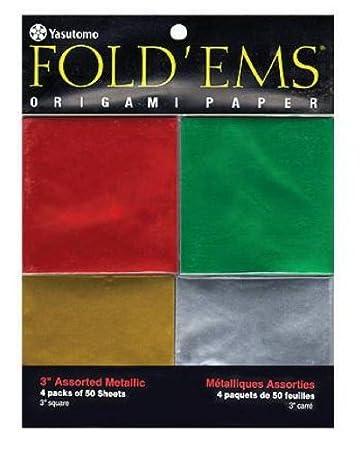 Yasutomo Y&C Fold Ems Origami Paper - Metallic Colors - 3