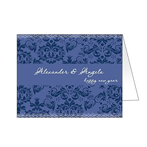Amazon.com: Vintage Floral Personalized Greeting Cards ...