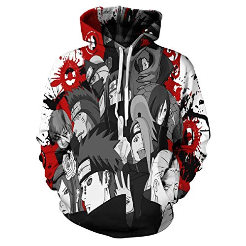 (CHENMA Men Naruto 3D Print Pullover Hoodie Sweatshirt with Front Pocket)