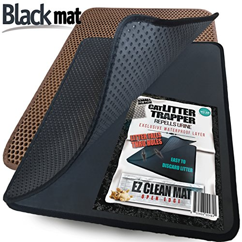 Small Cat Litter Trapper by iPrimio - Litter Mat, EZ Clean Cat Mat, Litter Box Mat Water Proof Layer and Puppy Pad Option. Patent Pending. (23