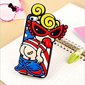 GJYMilk Babygirl Silicon Case for iPhone 5/5S , Black