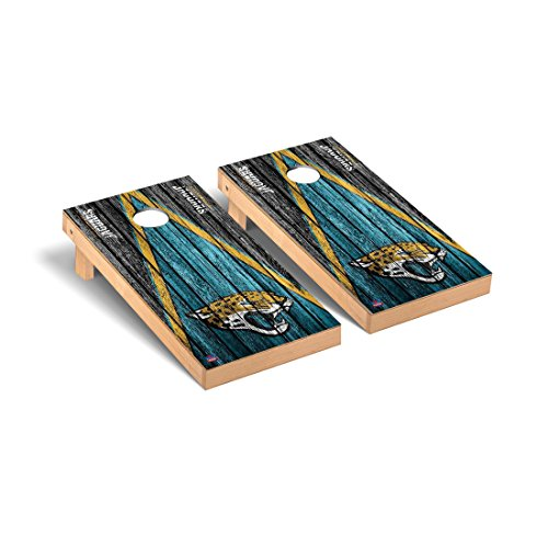 Victory Tailgate Jacksonville Jaguars NFL Football Regulation Cornhole Game Set Triangle Weathered Version