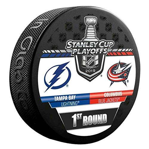 2019 Stanley Cup Playoffs Hockey Puck 1ST Round Lightning VS. Blue Jackets Souvenir Puck Finals Shipping ()