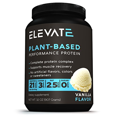 Vegan Plant Based Performance Protein Powder, 2lbs Vanilla, GMO-Free, Low Carb, NO Sugar, High Protein, BCAAs, Glutamine, Dairy and Soy Free, Packed With Superfoods, NO Artificial Flavors