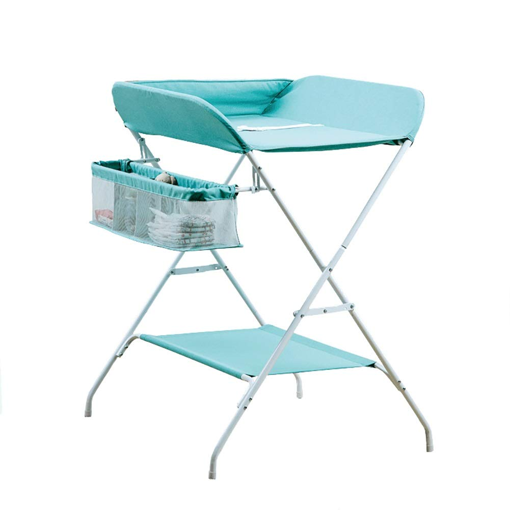 bluee Baby Changing Table, Foldable Diaper Station for Newborn 0-36 Months, Portable Dresser Organizers