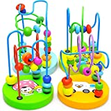 Steellwingsf 1Pc Baby Toddler Kids Educational Wooden Beads Around Intelligence Game Toy Gift