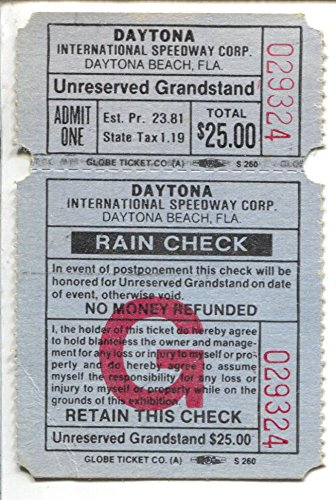 Daytona International Speedway NASCAR Race Ticket 1980-Daytona 500-FN - Daytona 500 Tickets