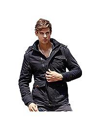 URBANFIND Men's Hooded Fleece Winter Coat Classic Fashion Cotton Jacket