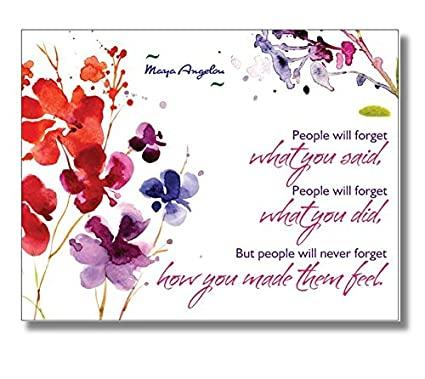 Set Of 20 Postcards Maya Angelou Quote QuotPeople Will Forget What You
