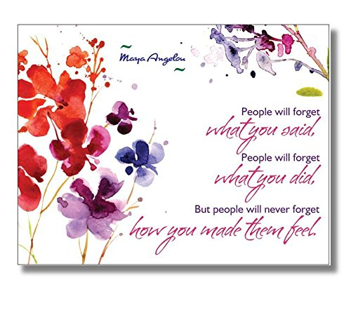 Set of 20 Postcards, Maya Angelou Quote,
