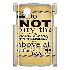 Plastic Durable Cover Uahy Harry Potter quotes For Google Nexus 5 Cases Cell phone Case