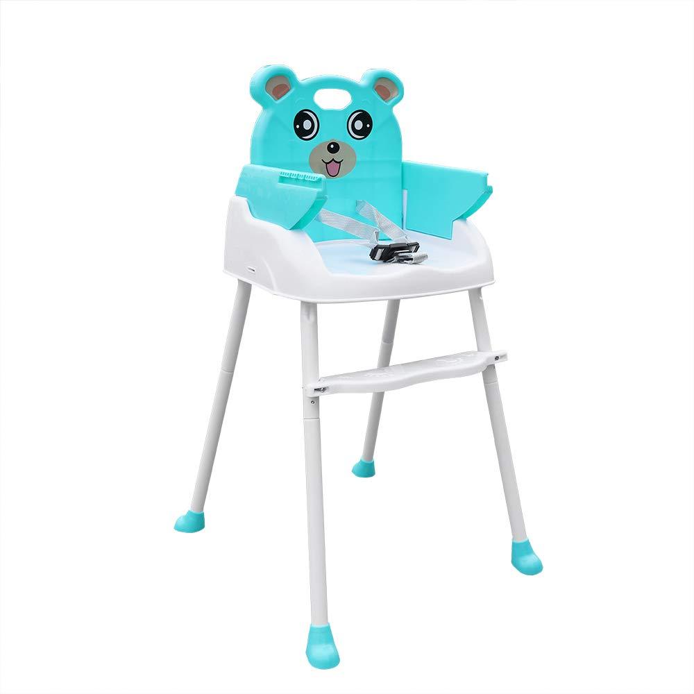 Verstellbar Kinderhochstuhl Baby F/ütterungsstuhl Essstuhl Sitzerh/öhung Faltbares Blau