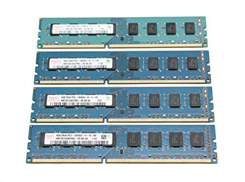 HYNIX HMT351U6CFR8C-H9 4GB 2Rx8 PC3-10600U 240-pin DDR3 SDRAM Desktop Memory 4x4GB (16GB TOTAL) ()