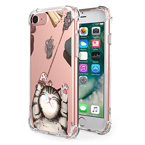 Price comparison product image Beryerbi iPhone 7/iPhone 8 Case Flexible TPU Super-Thin Transparent Air Cushion Technology Protective Cover for Apple 7/8 (4, iPhone 7/8)