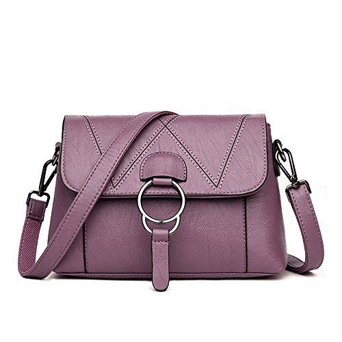 Meaeo Bolsa De Moda Bolso Femenino Diagonal Paquete De Hombro Púrpura Purple